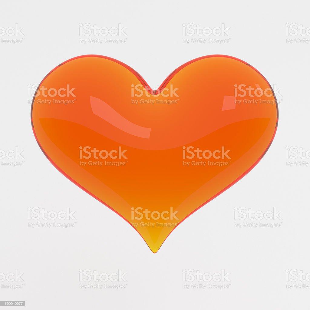 Glass Heart stock photo