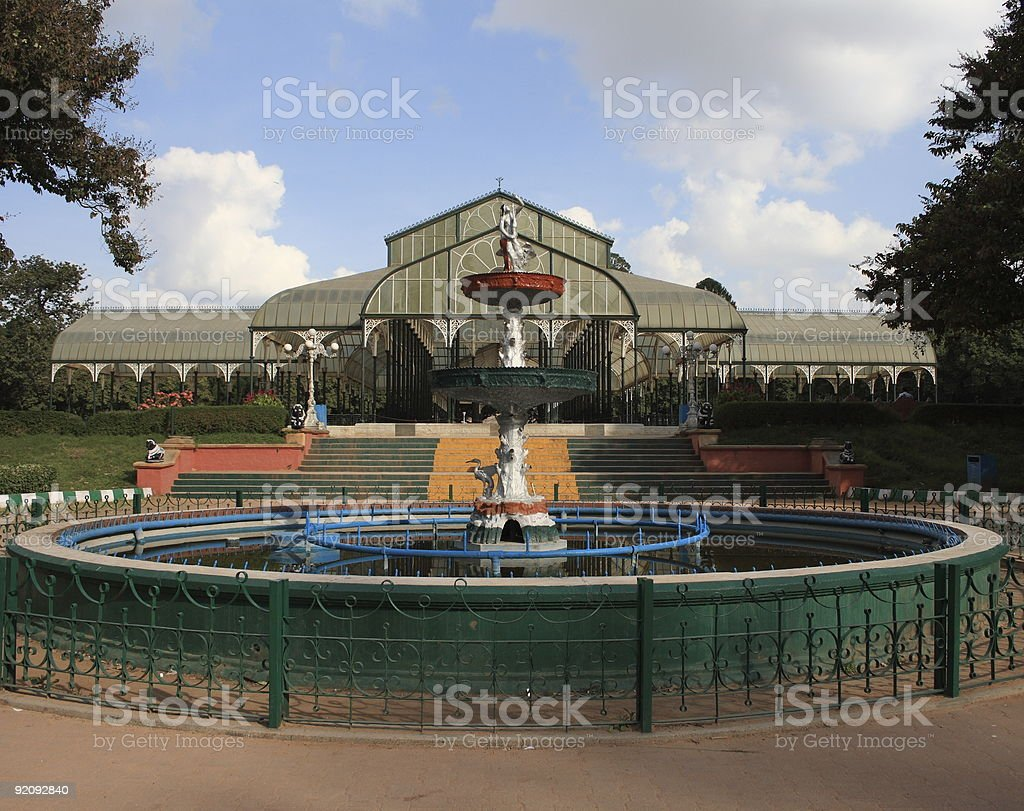 Glass House at Lalbagh gardens in Bangalore, India stock photo