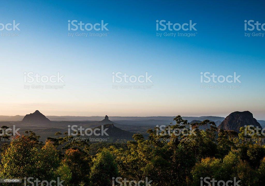 Glass House Mountains stock photo
