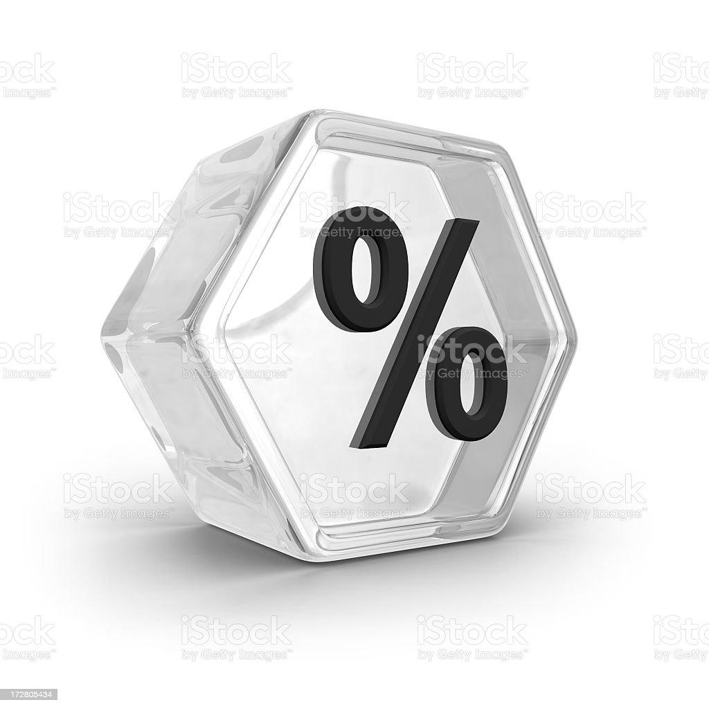 Glass Icon - Percent royalty-free stock photo