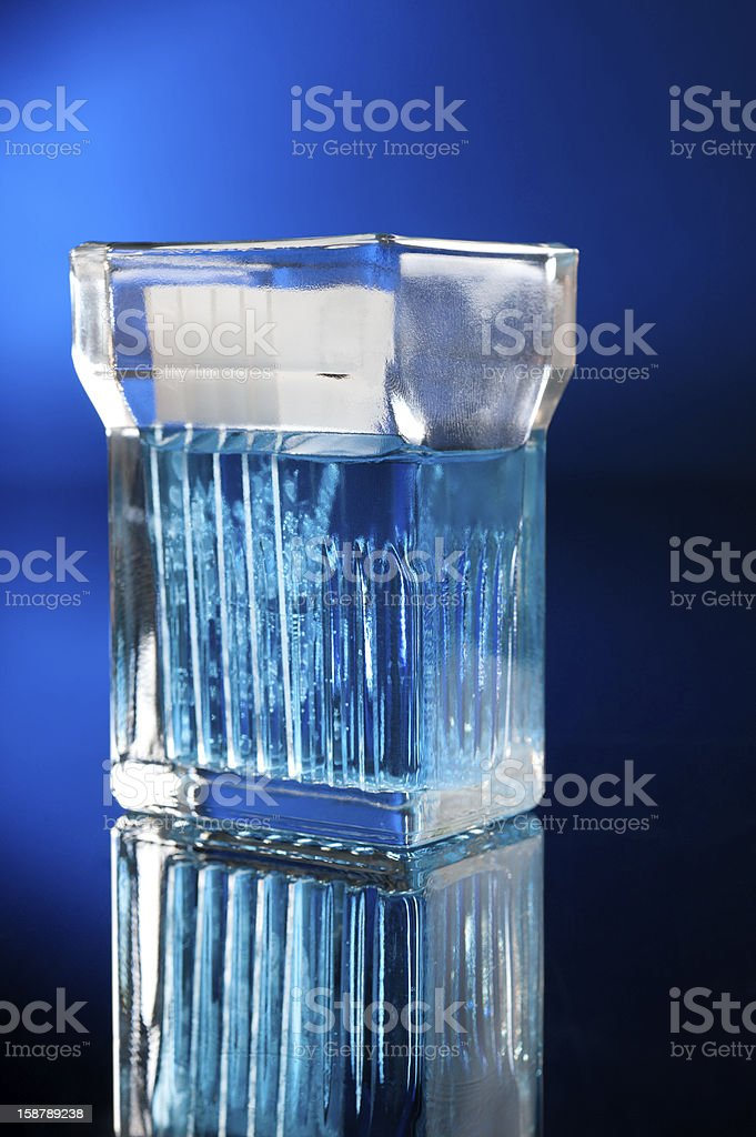 Glass jar with samples of patient tissue royalty-free stock photo
