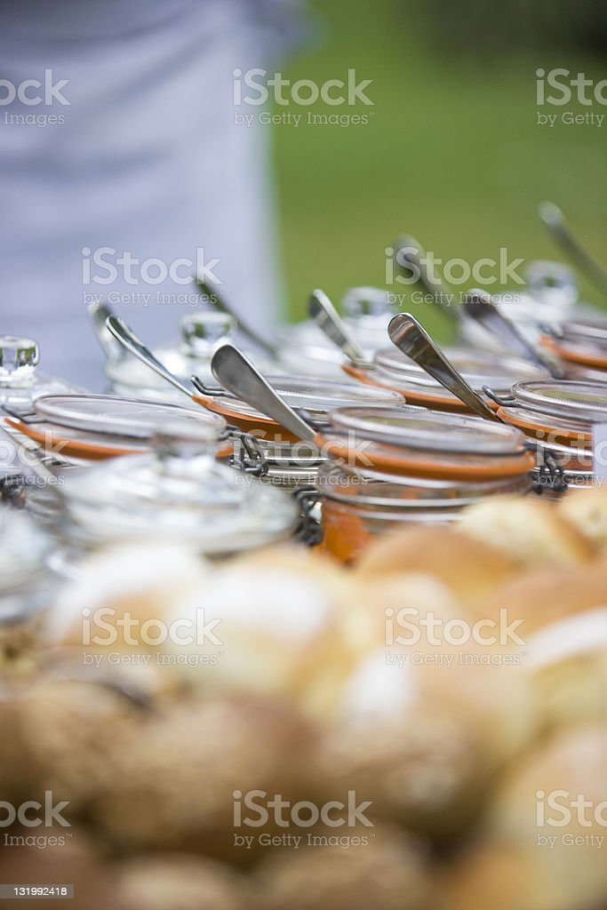 Glass jars of spices royalty-free stock photo
