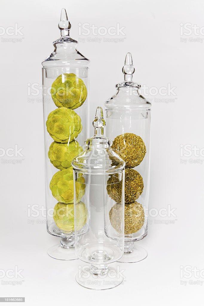 Glass Jars stock photo