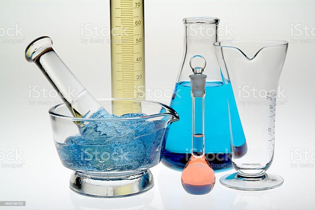 glass laboratory stock photo