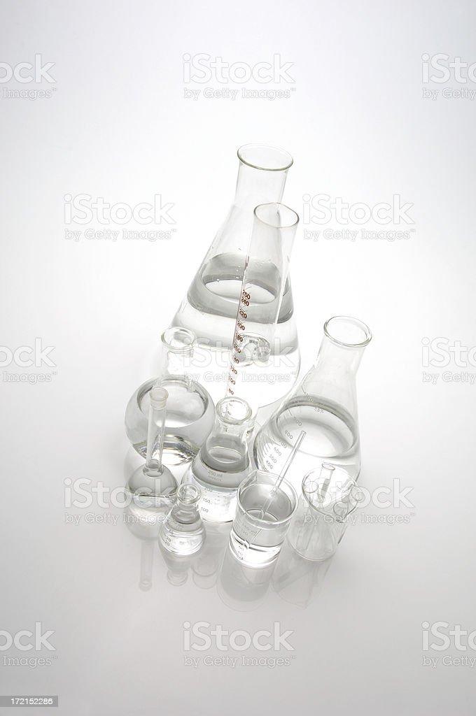 Glass Laboratory Vessels stock photo