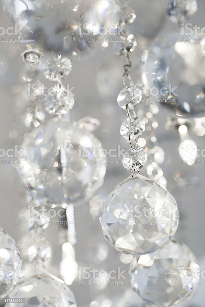 Glass lamp crystal in light stock photo