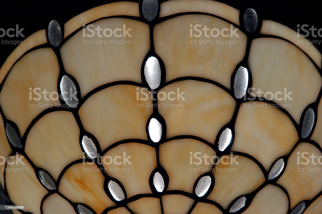 Glass Lampshade stock photo
