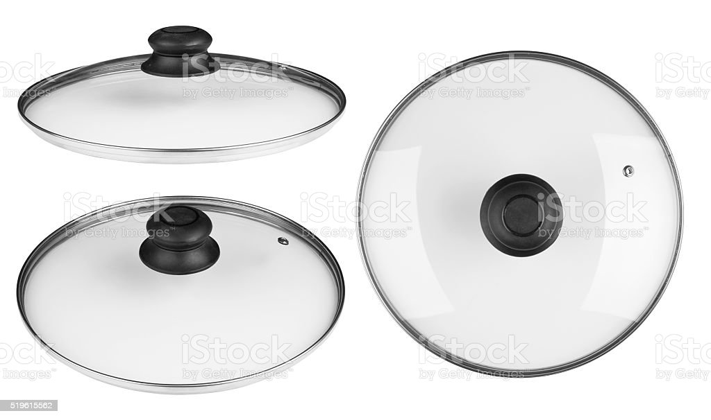 Glass lid stock photo