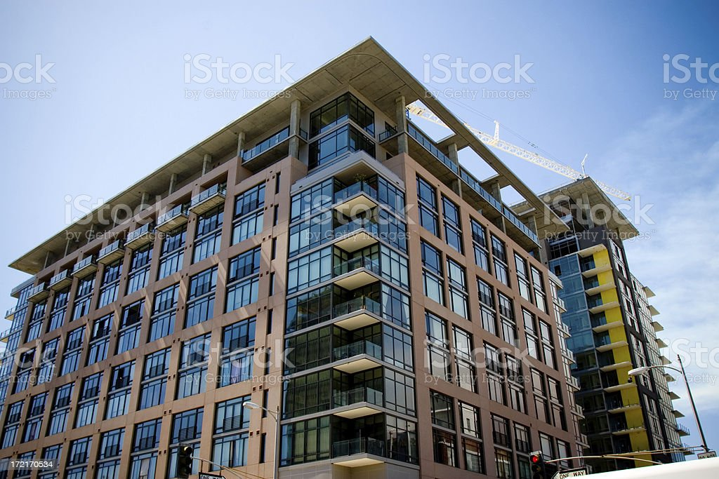 Glass Loft in los angeles royalty-free stock photo