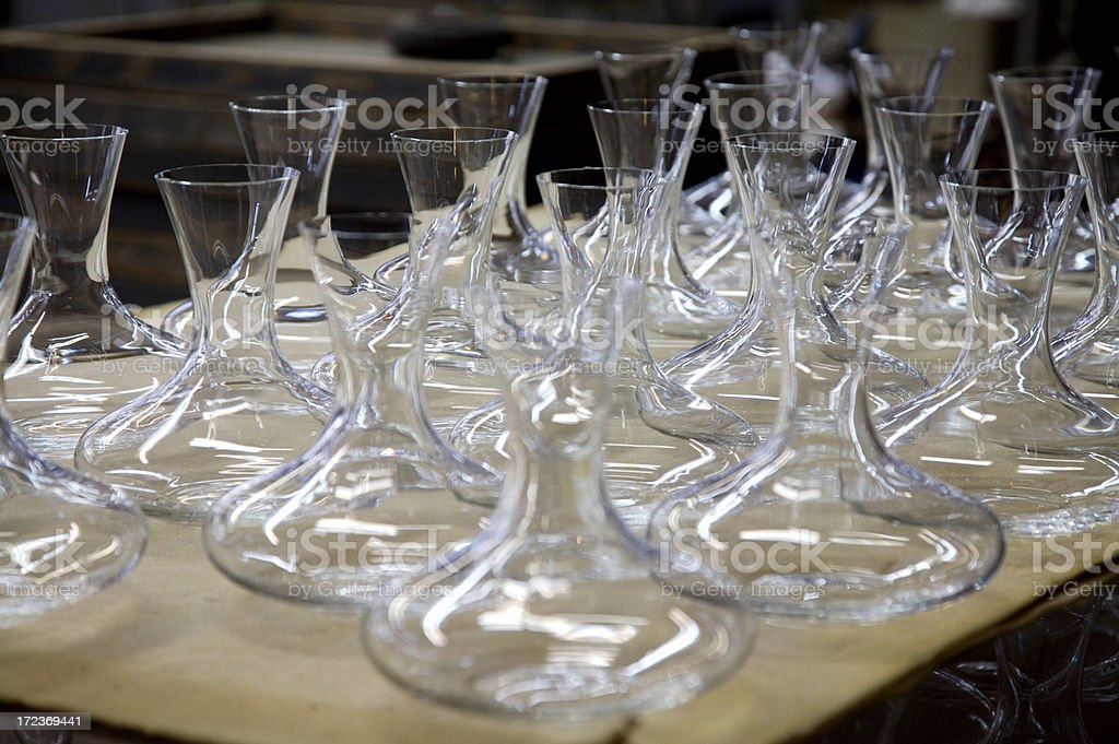 Glass making royalty-free stock photo