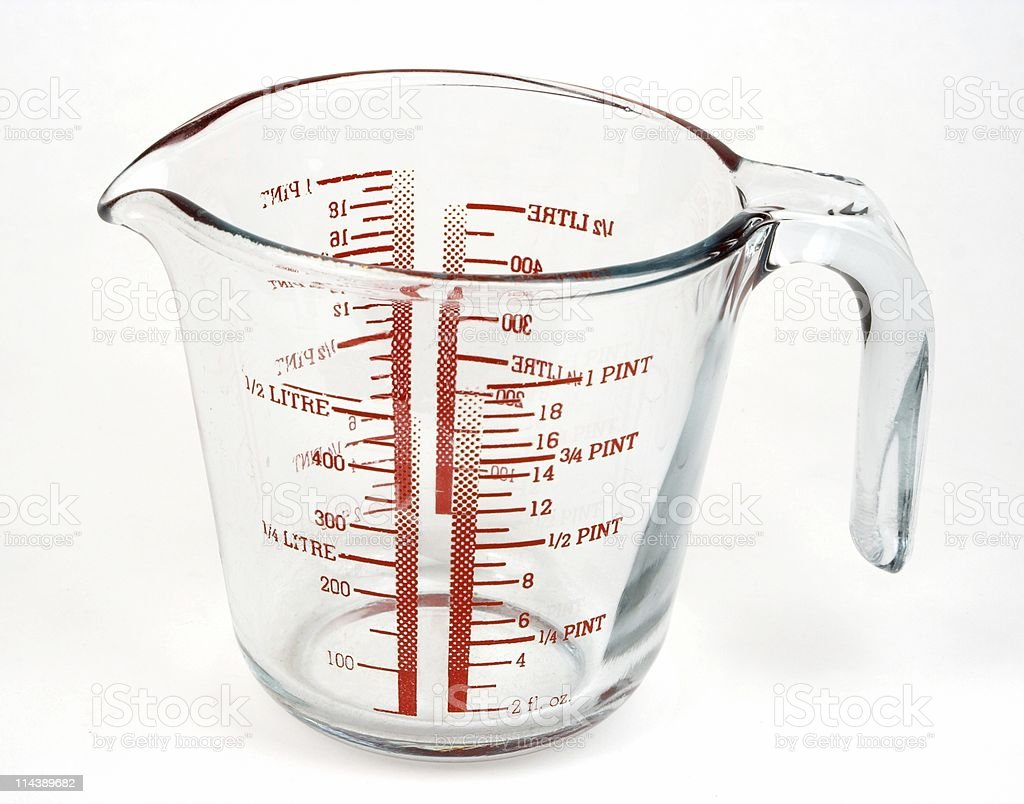 Glass Measuring Jug stock photo