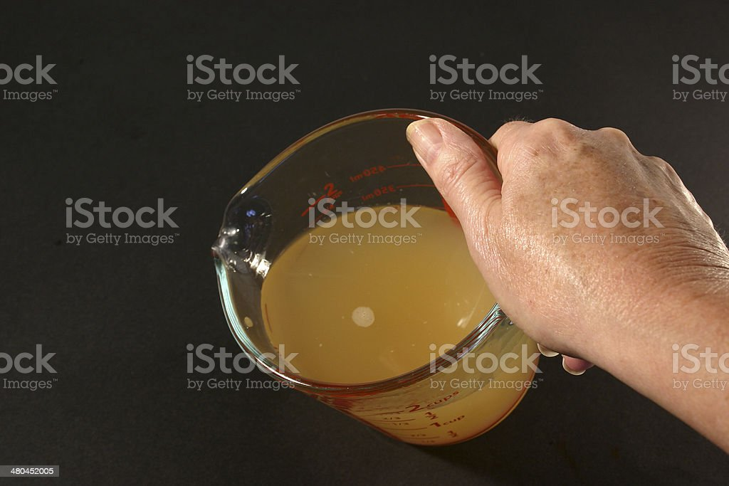Glass Measuring Jug with Stock stock photo