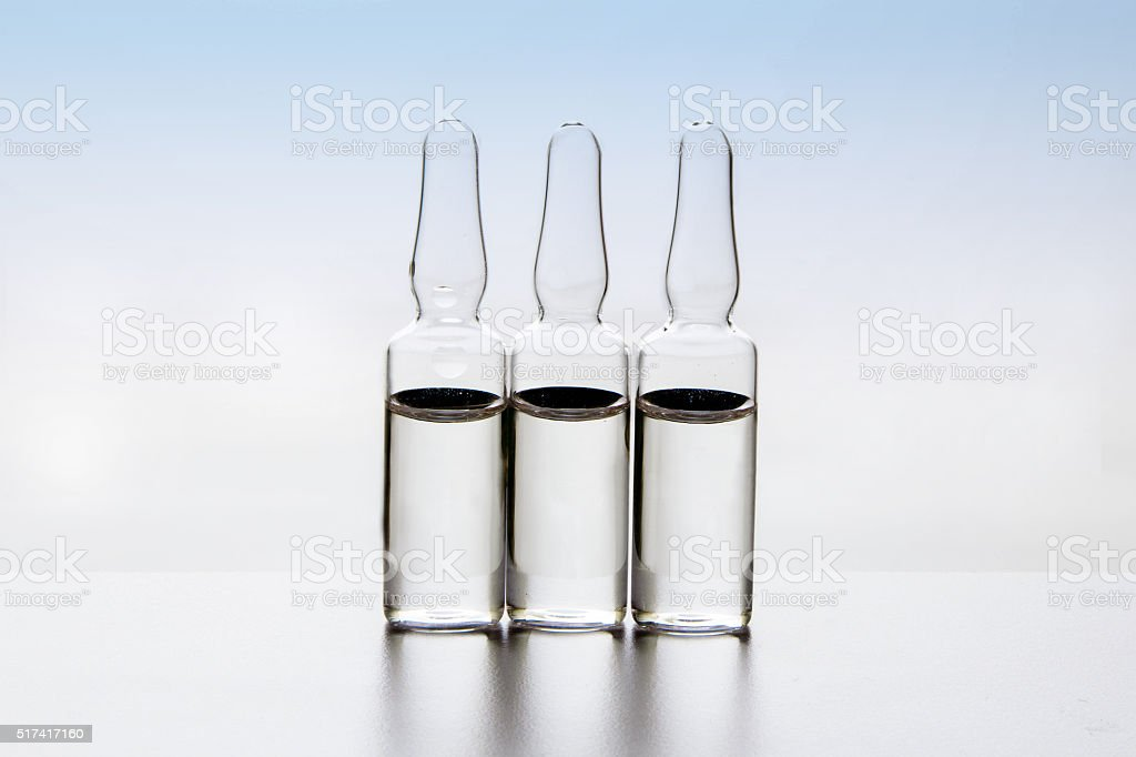 Glass Medicine Ampoules stock photo