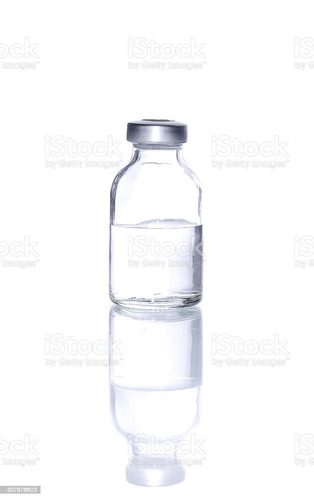 Glass Medicine Vial  for Injecting medicine stock photo