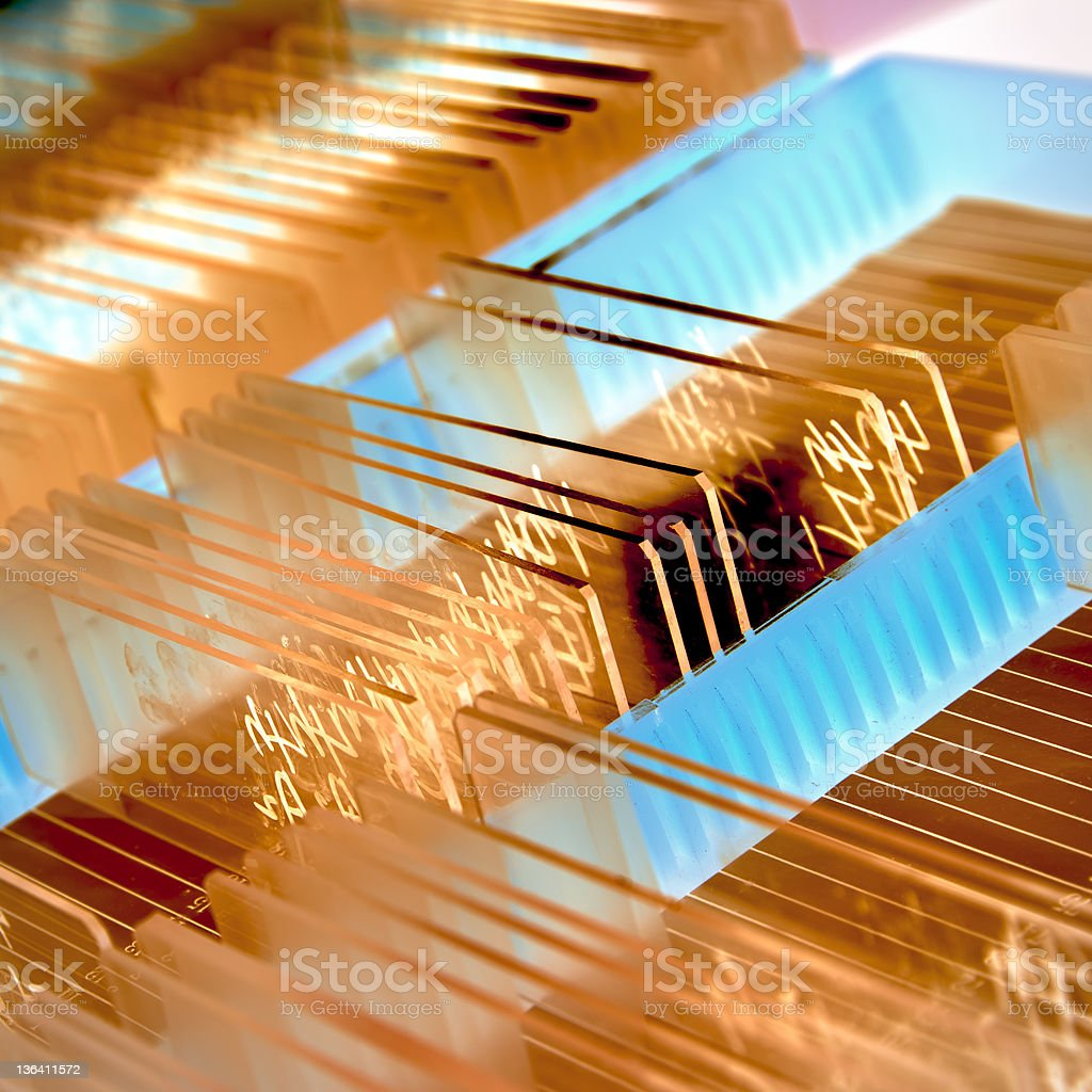 glass microscope slide stock photo