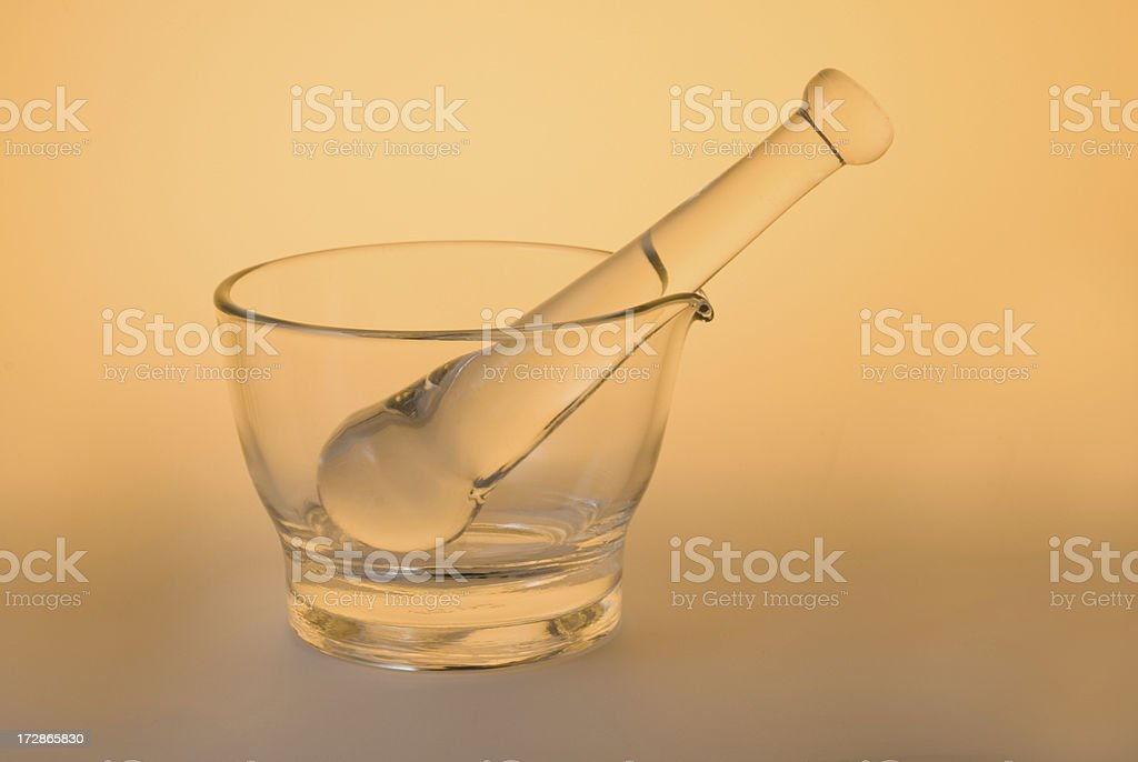 Glass Mortar and Pestle royalty-free stock photo
