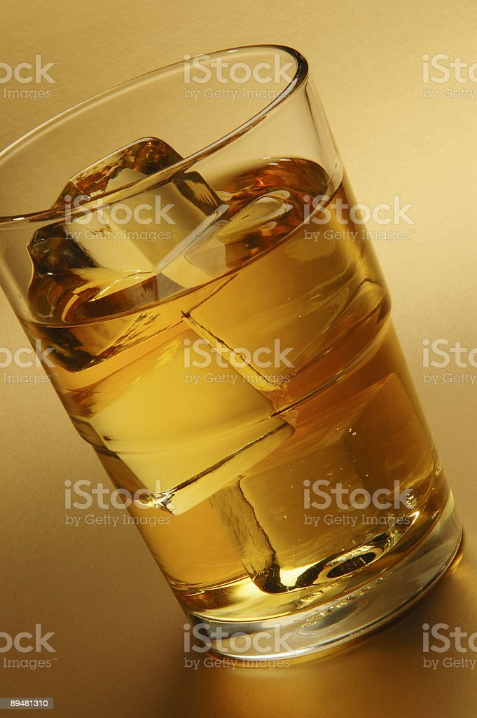 Glass of alcohol stock photo