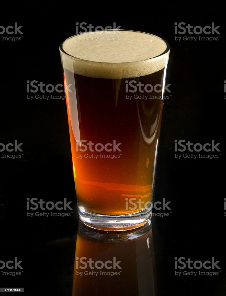 Glass of Amber Beer royalty-free stock photo