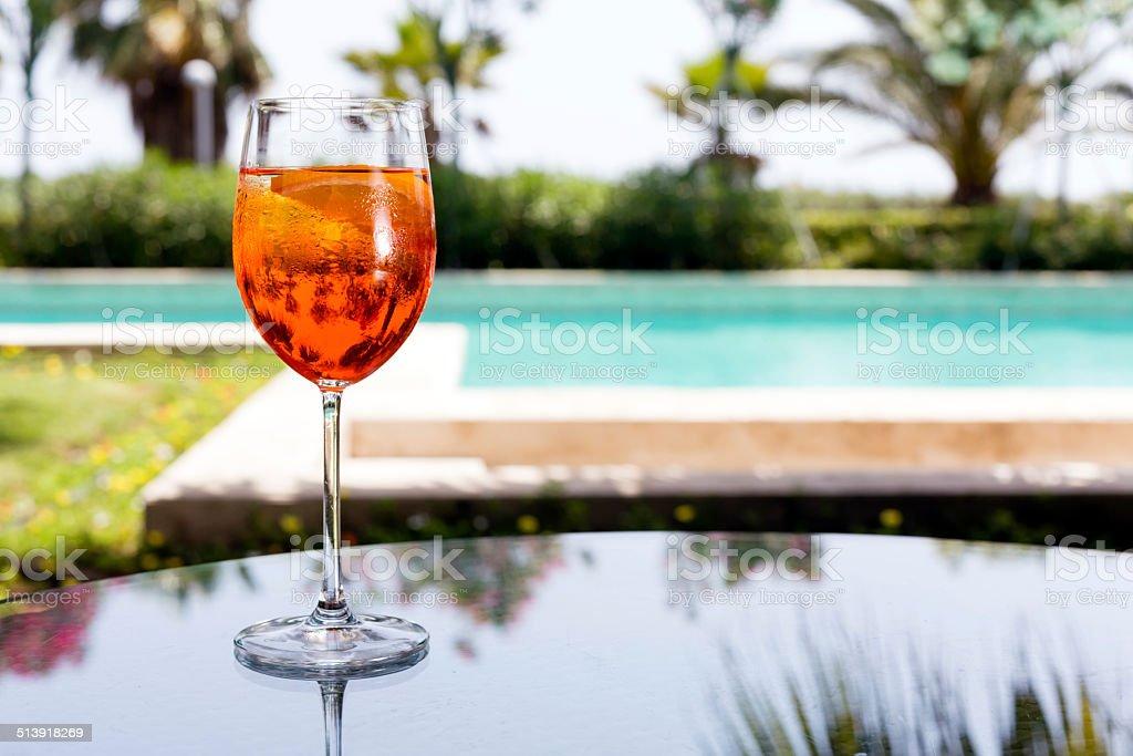 Glass of Aperol Spritz stock photo