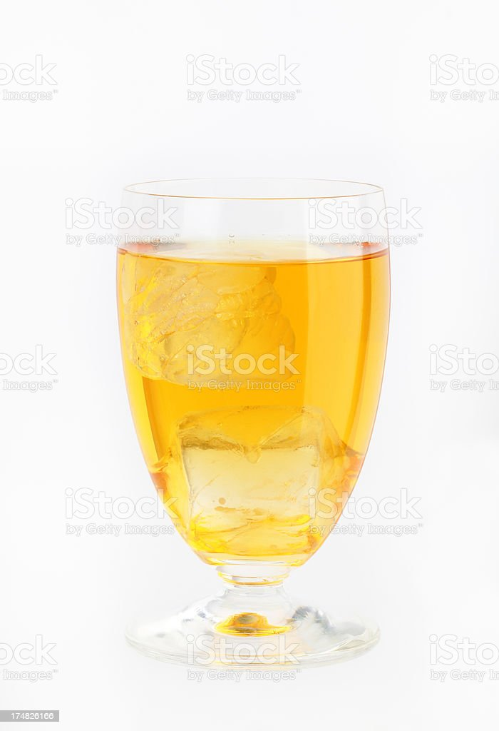 glass of apple juice with ice royalty-free stock photo