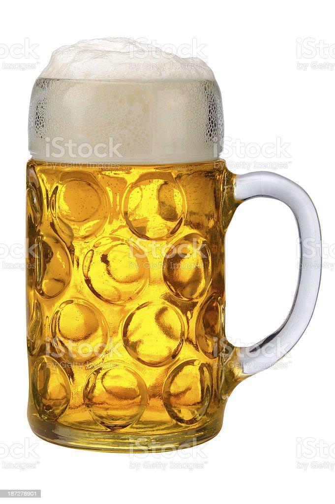 glass of bavarian lager beer stock photo