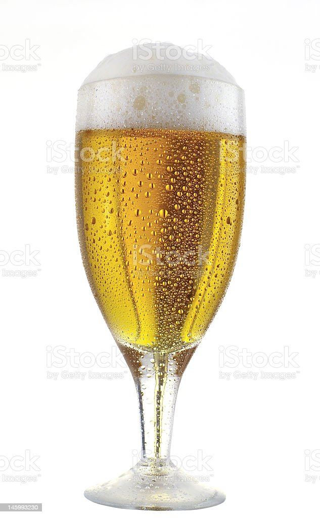 glass of beer 2 royalty-free stock photo
