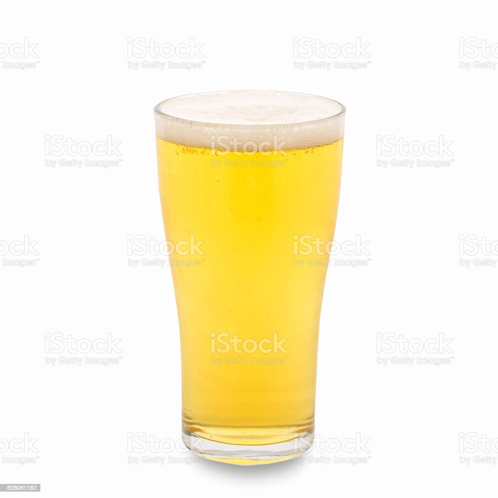 Glass of beer isolated. Clipping Path stock photo