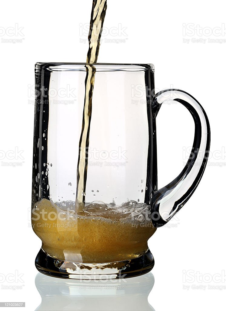 Glass of beer, isolated. stock photo