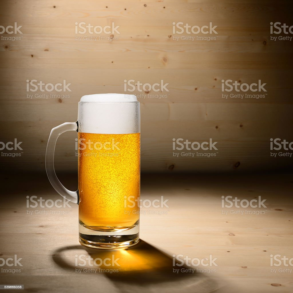 Glass of beer stock photo