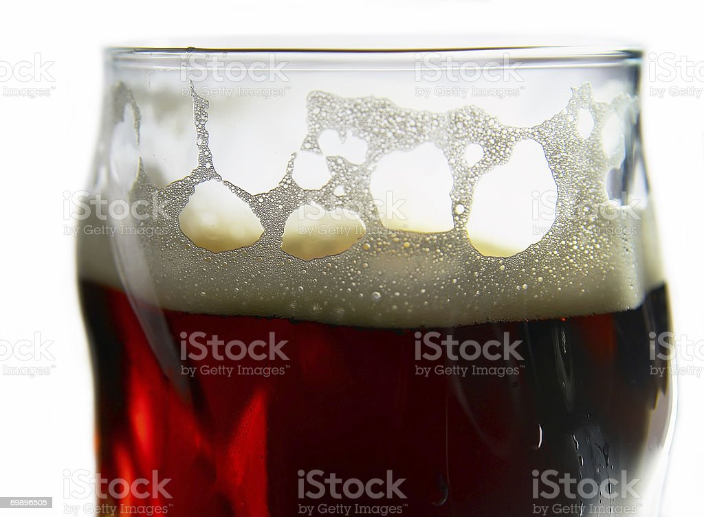 glass of beer (isolated) royalty-free stock photo