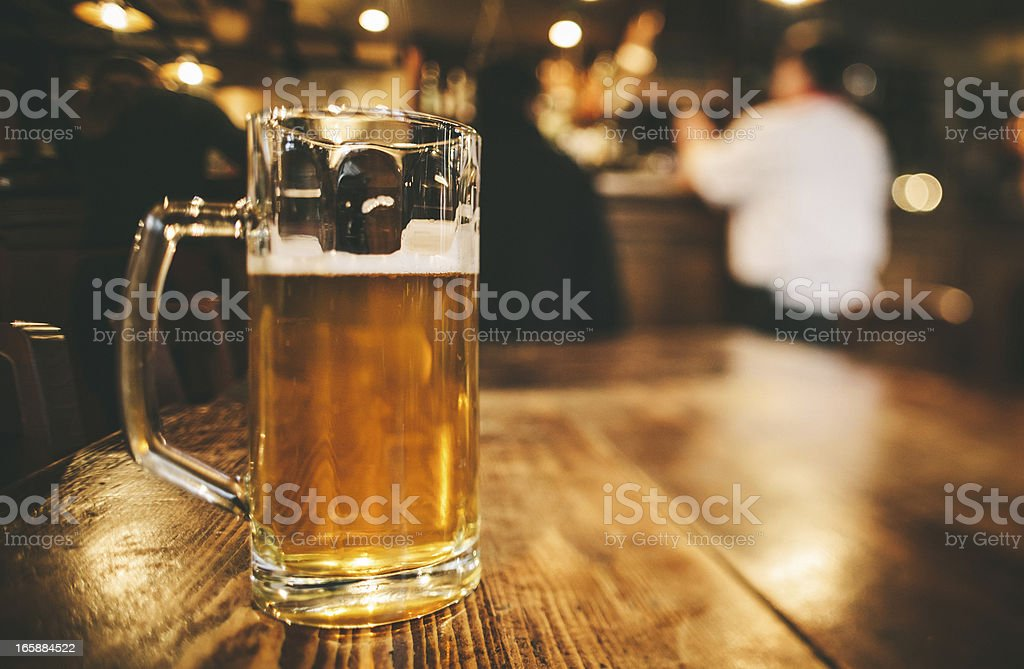 Glass of Bier, Brewery in Germany royalty-free stock photo