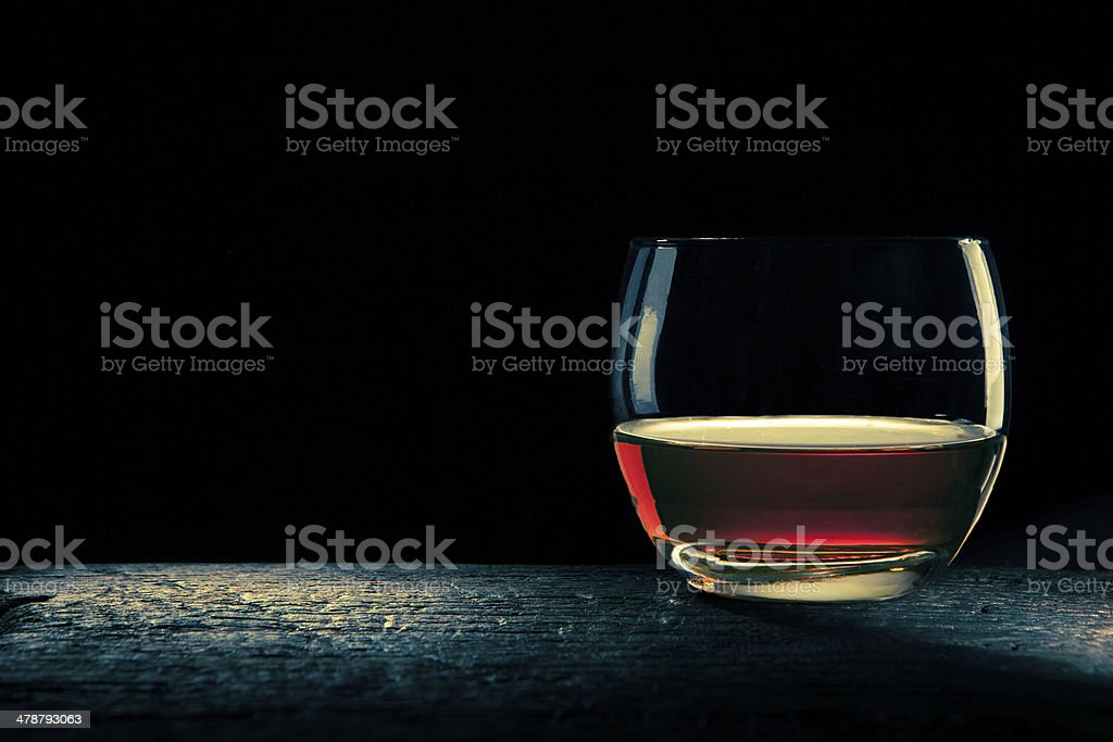 glass of bourbon royalty-free stock photo