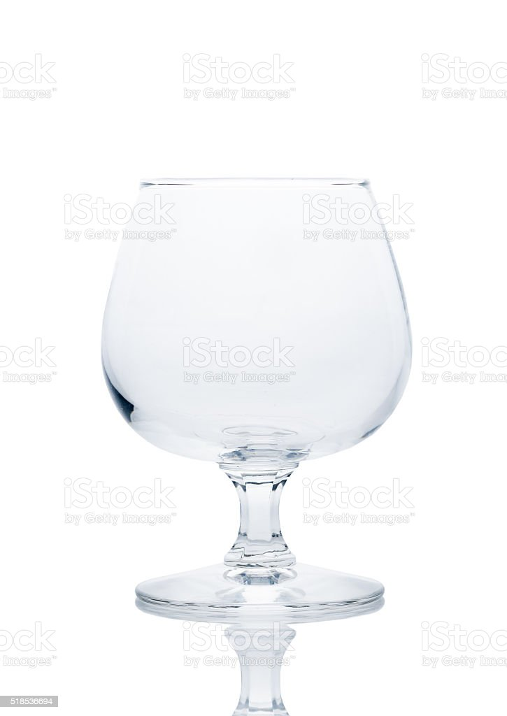 glass of brandy isolated stock photo