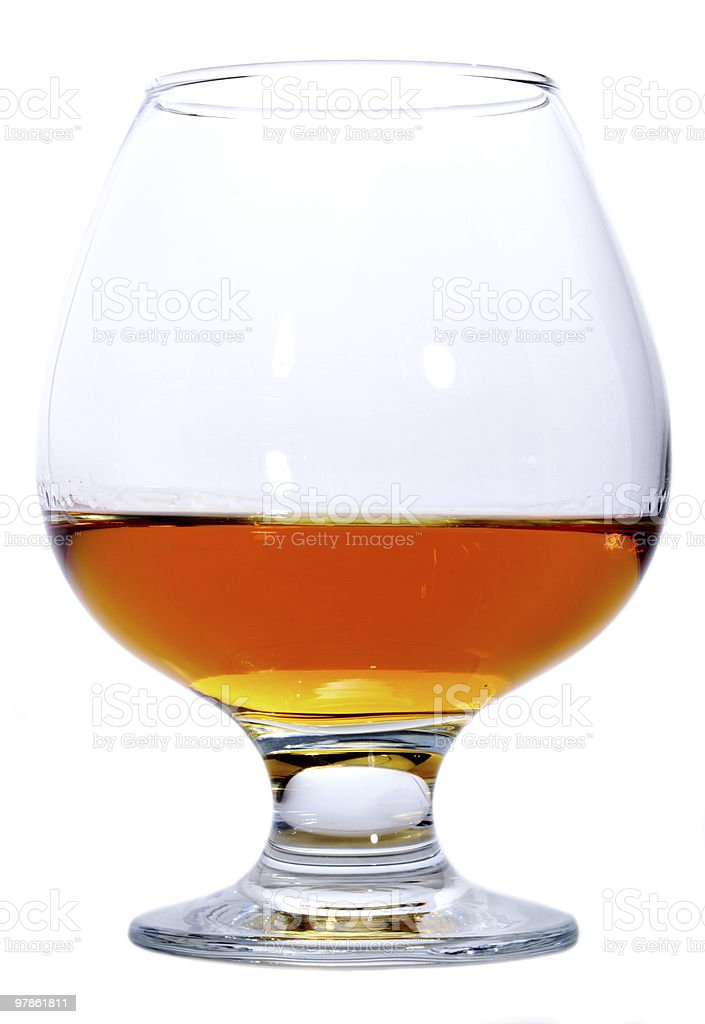 Glass of Brandy or Cognac royalty-free stock photo