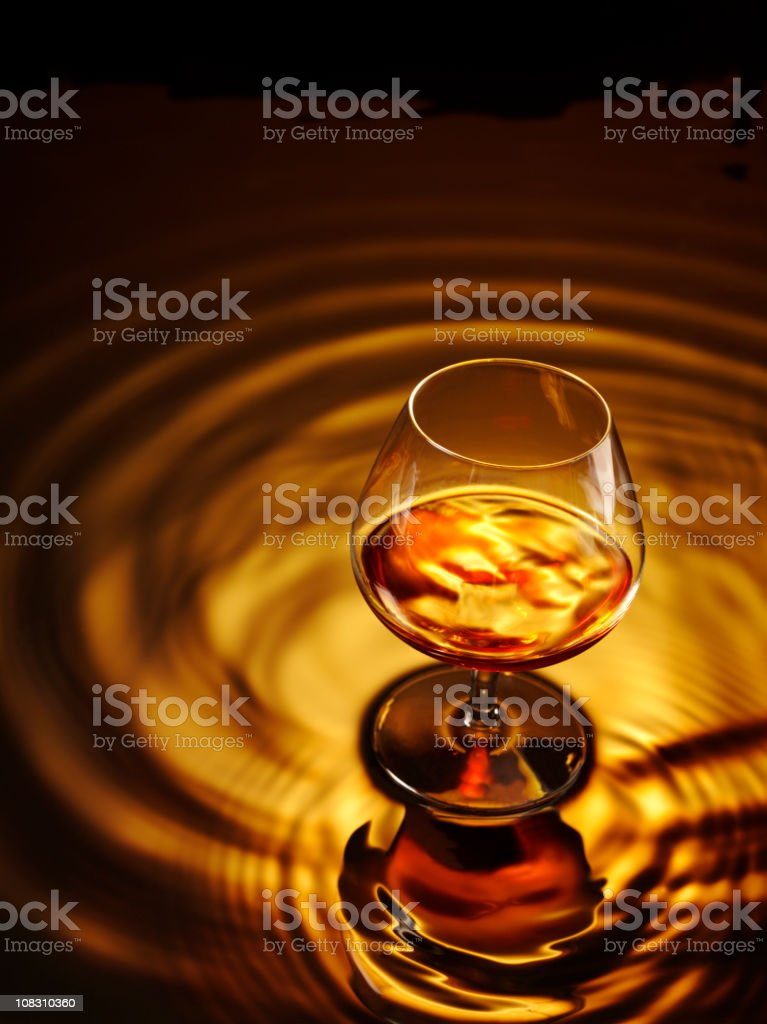Glass of Brandy stock photo