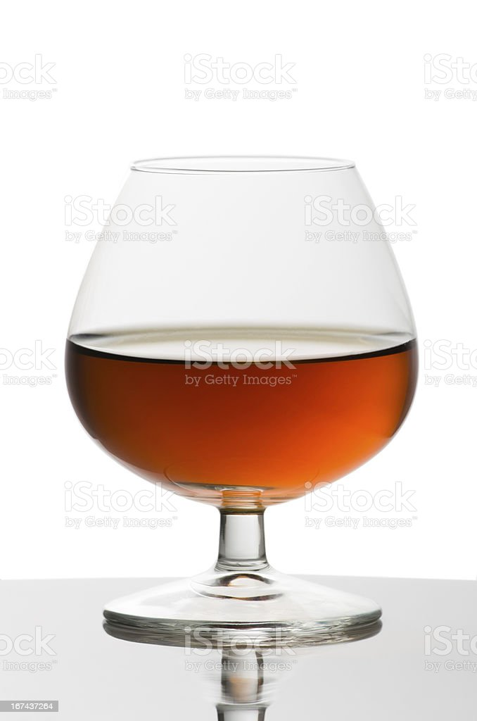Glass of brandy royalty-free stock photo