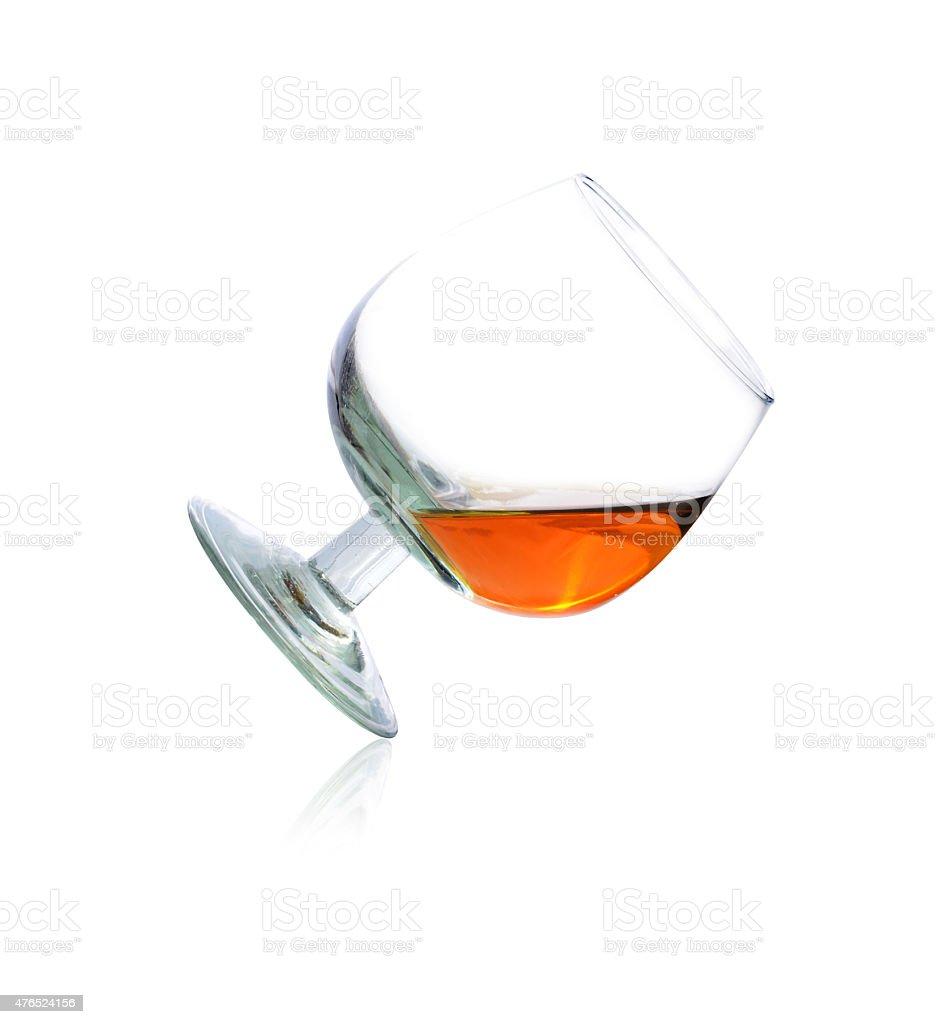 Glass of brandy stock photo