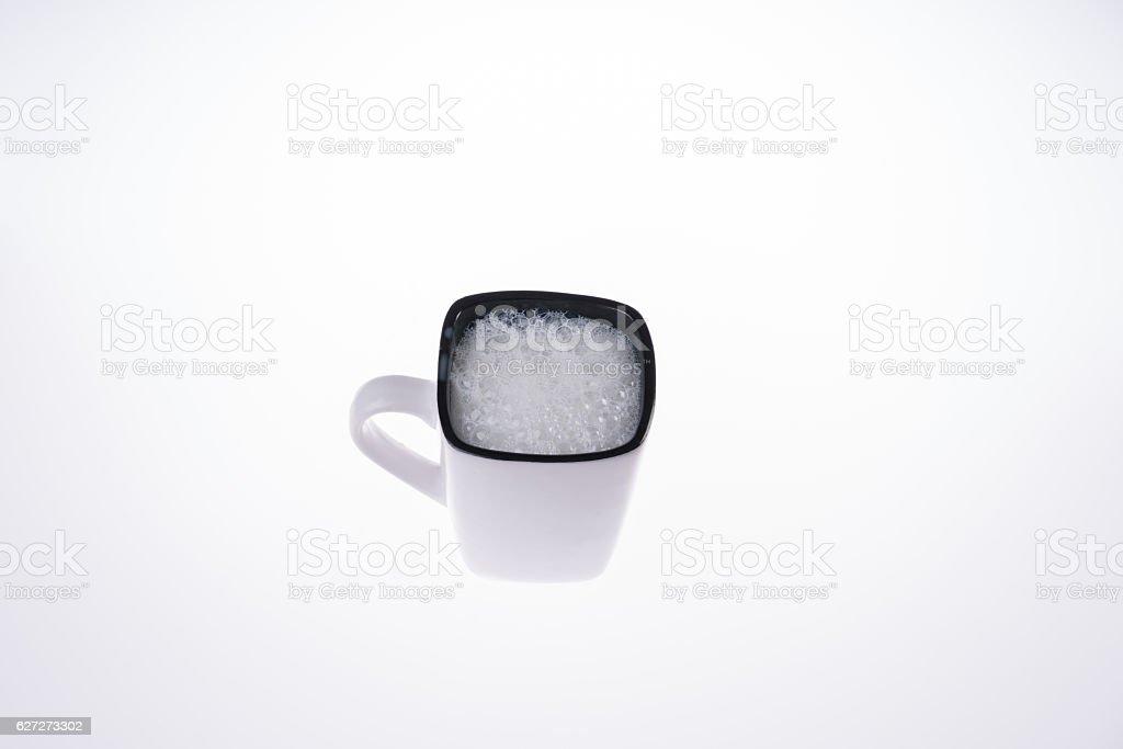 Glass of buttermilk studio shoot stock photo
