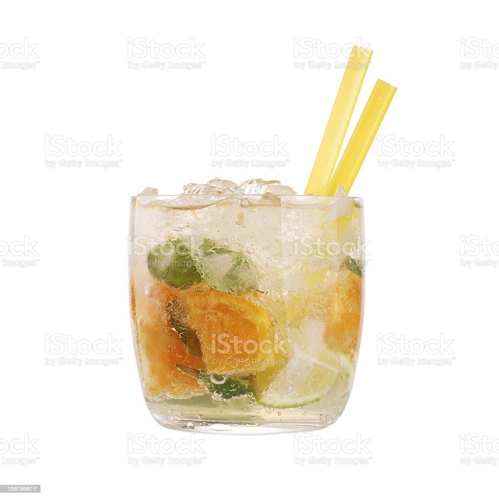 Glass of caipirinha royalty-free stock photo