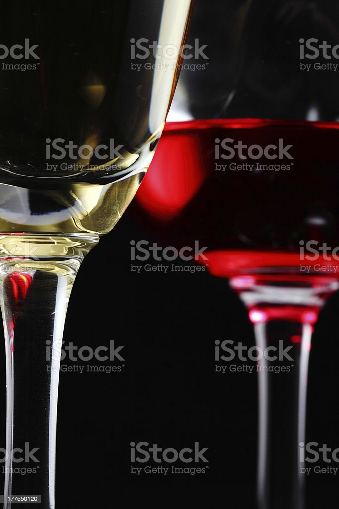 Glass of champagne and wine royalty-free stock photo