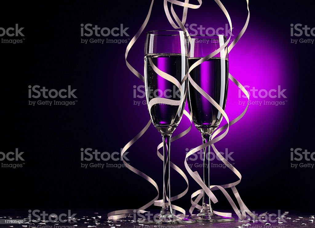 Glass of Champagne stock photo