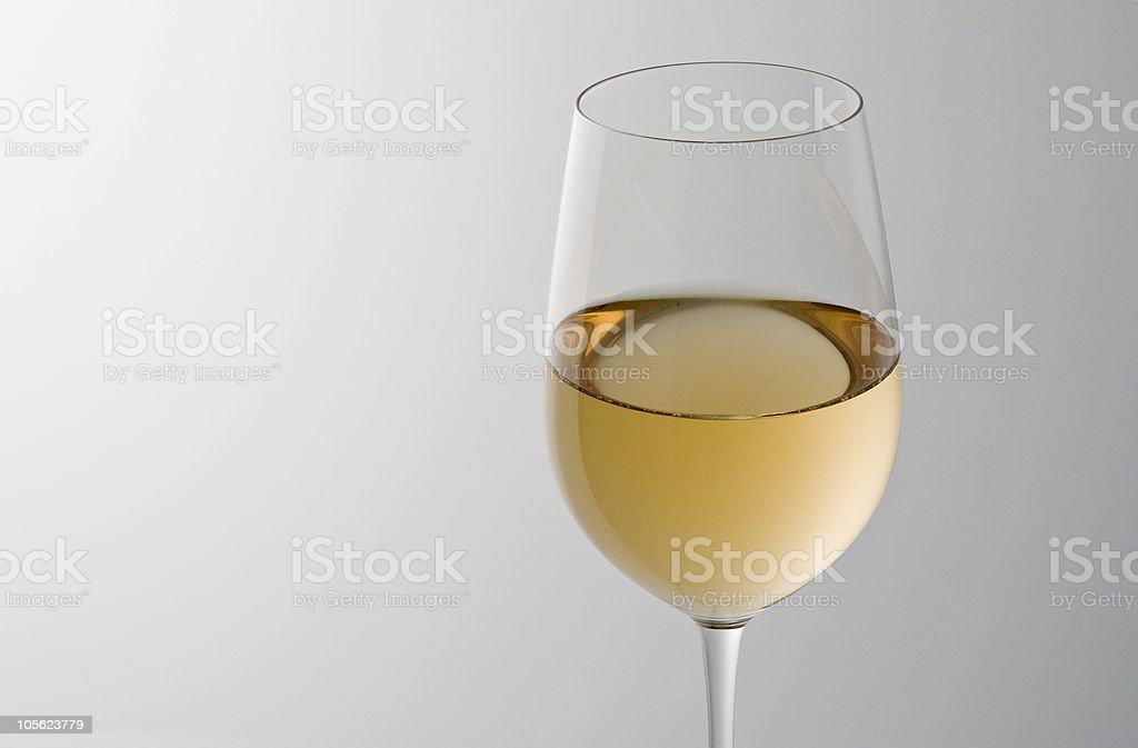 Copa de chardonnay foto de stock libre de derechos