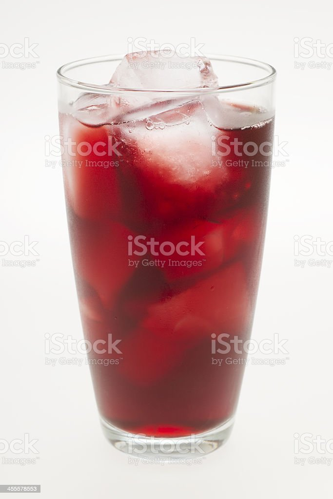 Glass of Cherry Juice stock photo