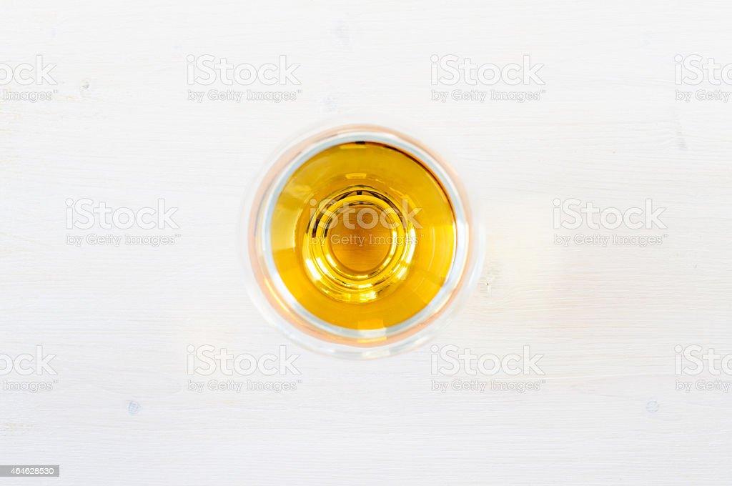 Glass of cognac, brandy stock photo