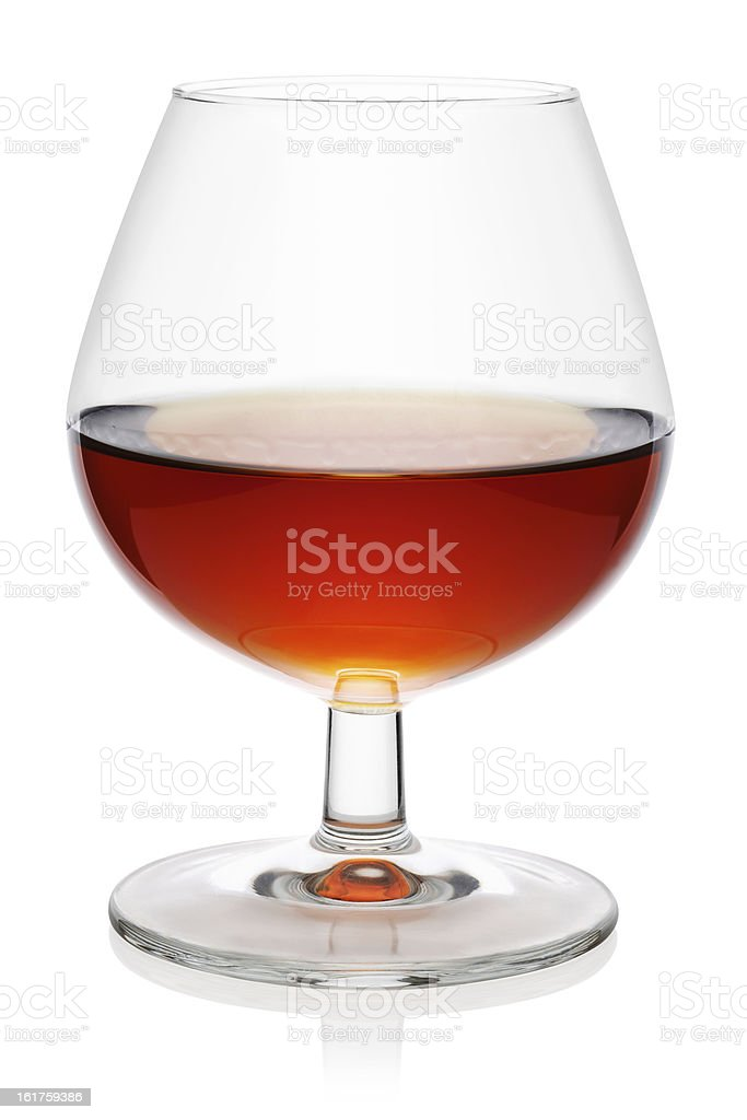 Glass of cognac. royalty-free stock photo