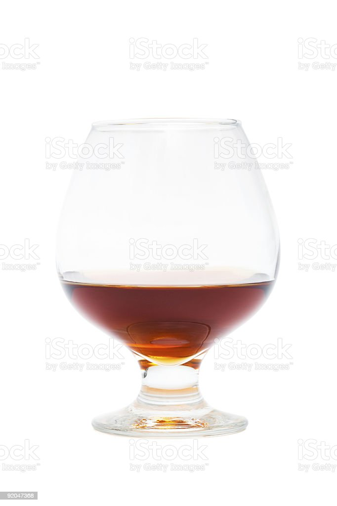glass of cognac royalty-free stock photo
