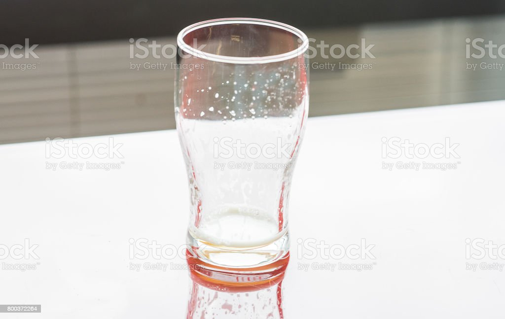 Glass of cold beer on a white background. Clipping path. stock photo