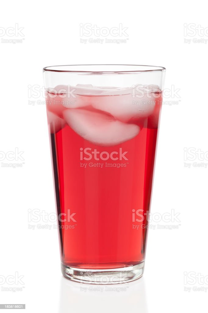 Glass of Cranberry Juice Isolated stock photo