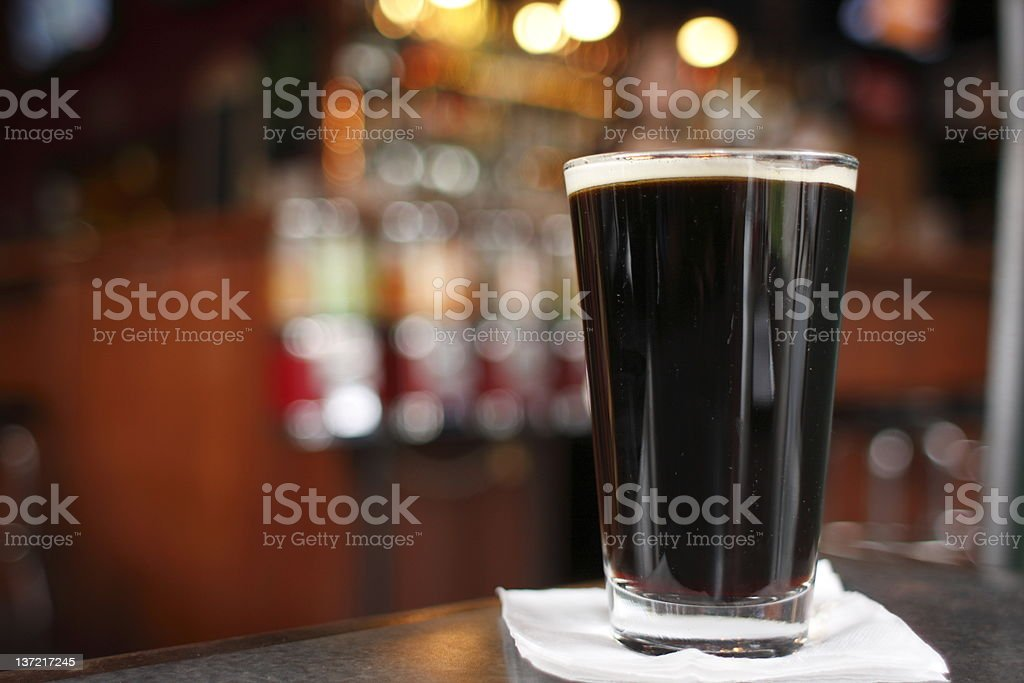 Glass of dark beer royalty-free stock photo