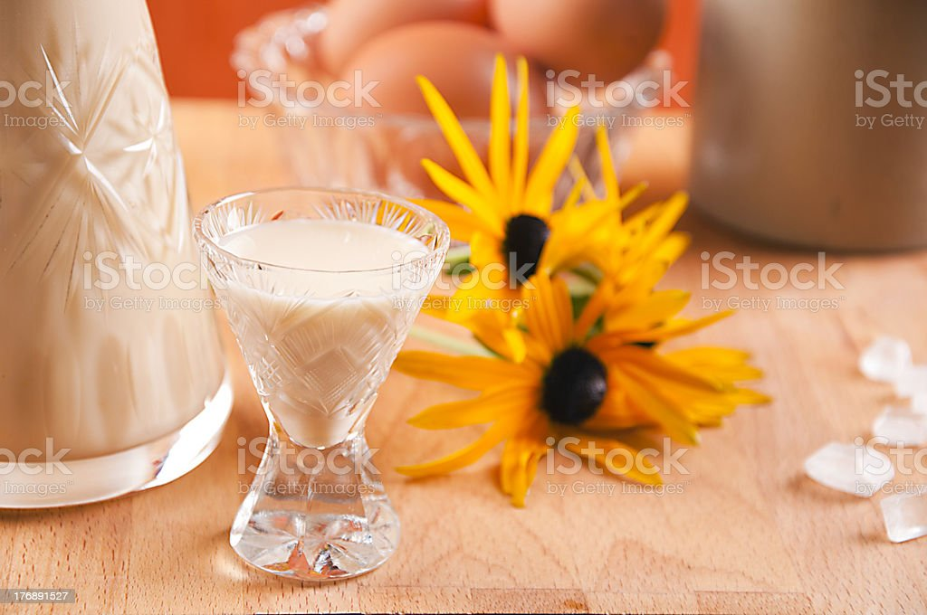 glass of eggnog royalty-free stock photo